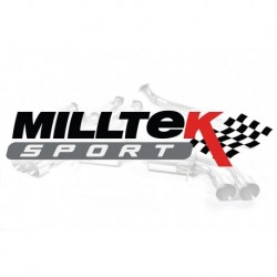 Układ wydechowy MILLTEK Audi A4 1.8T B6 quattro 163BHP 2001-2005 (Cat-back)